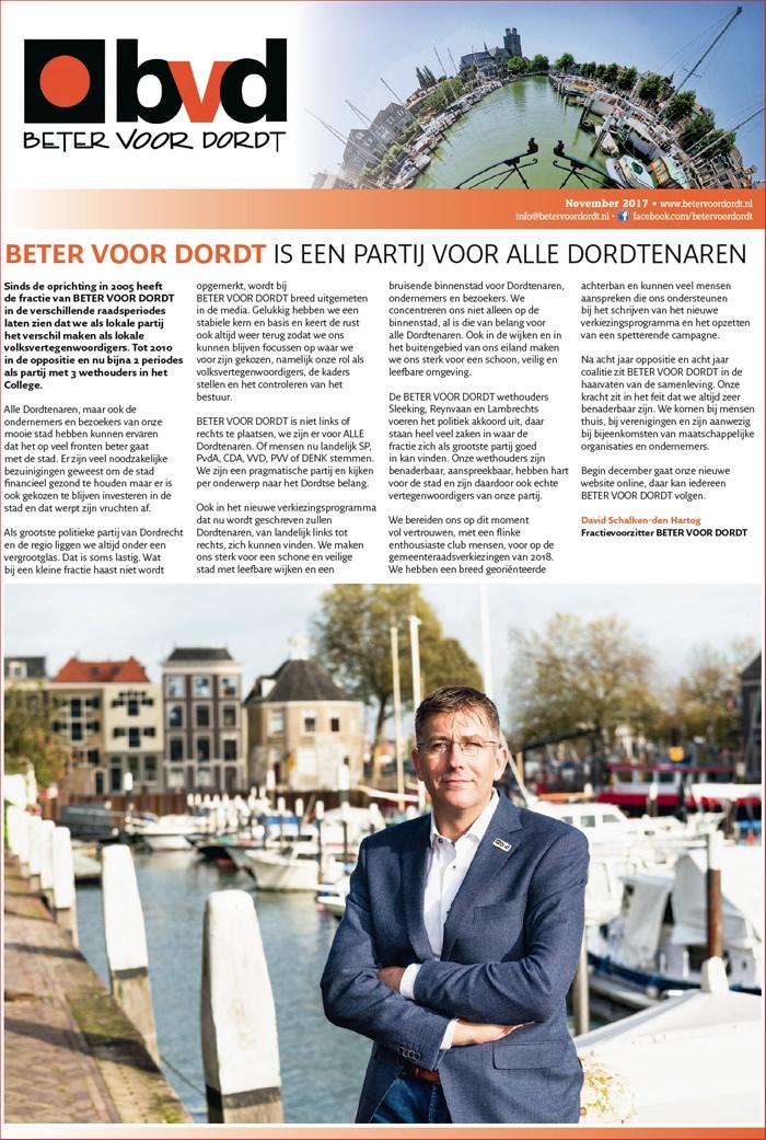 Beter voor Dordt: Nieuwsbrief: BETER VOOR DORDT is een partij voor alle Dordtenaren